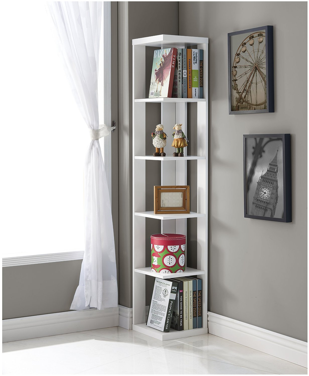Fullsize Of White Corner Shelf