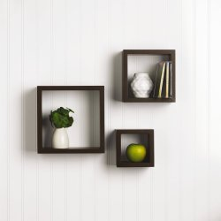Small Crop Of Floating Square Shelves