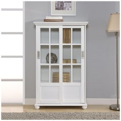 Small Crop Of Glass Door Bookcase