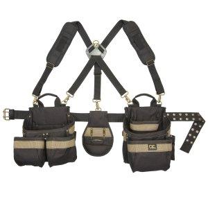 Custom LeatherCraft 1614 23 Pocket, Heavy Duty Framers 5-Piece Comfortlift Combo Tool Belt System