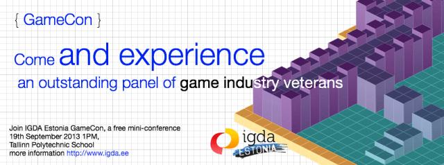 GameCon 2013 – IGDA Estonia Game Conference