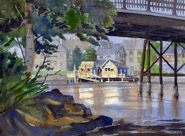 Brewster's Pier From Under Pierce Island Bridge