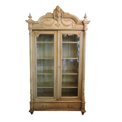 White Antique Bookcase