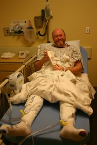 Todd all dressed for surgery