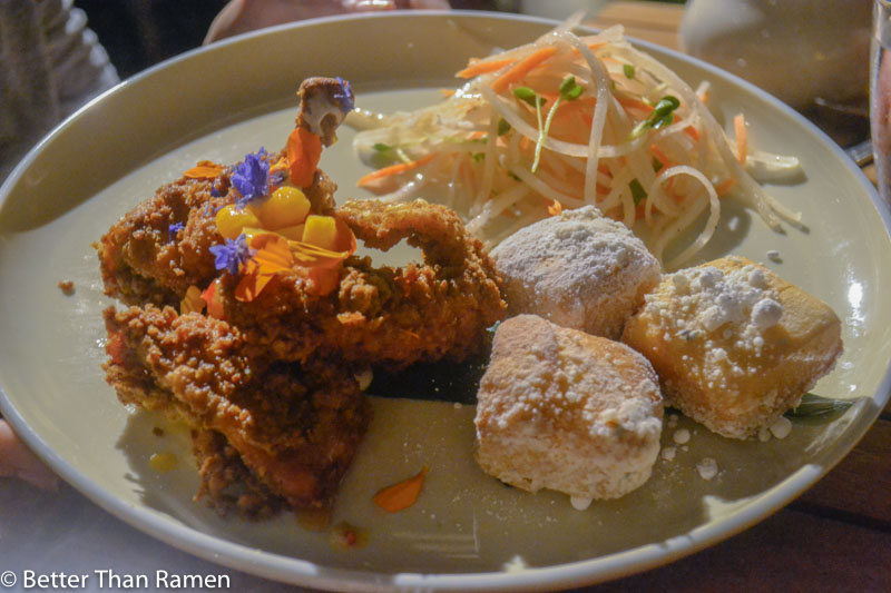 kaana kitchen andaz maui wailea review fried chicken