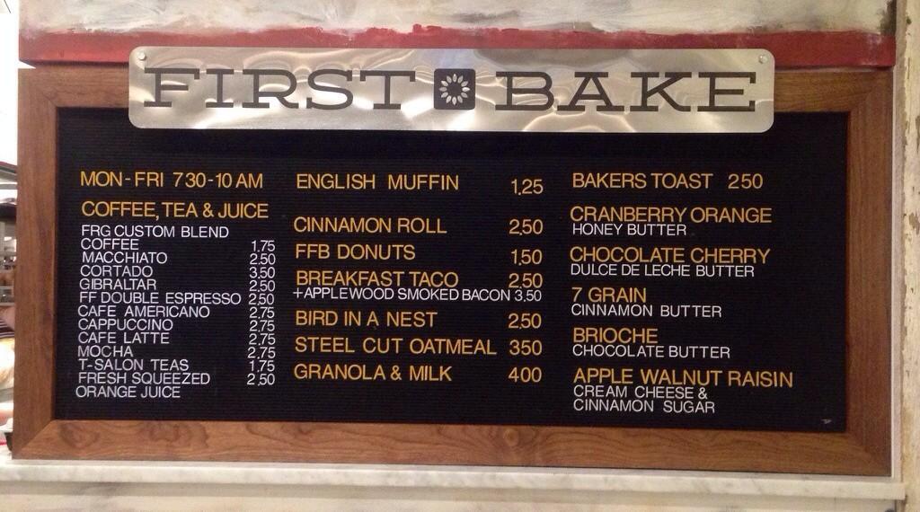 first bake