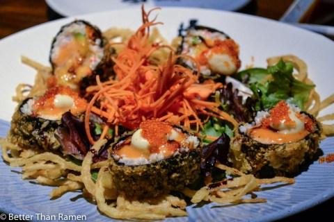 doraku sushi waikiki review emperor roll