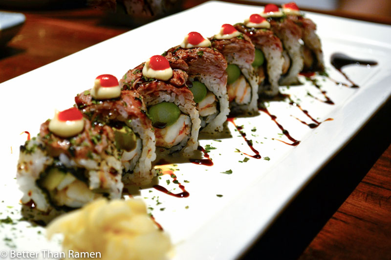 doraku sushi waikiki review surf and turf roll
