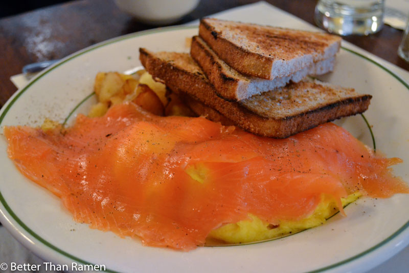 pastis new york restaurant review Scrambled Eggs with Norwegian Smoked Salmon