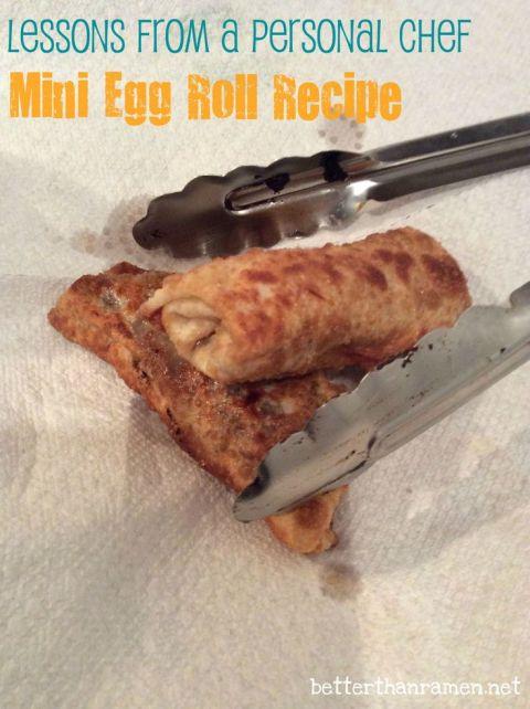 Mini Egg Roll Recipe via BetterThanRamen.net