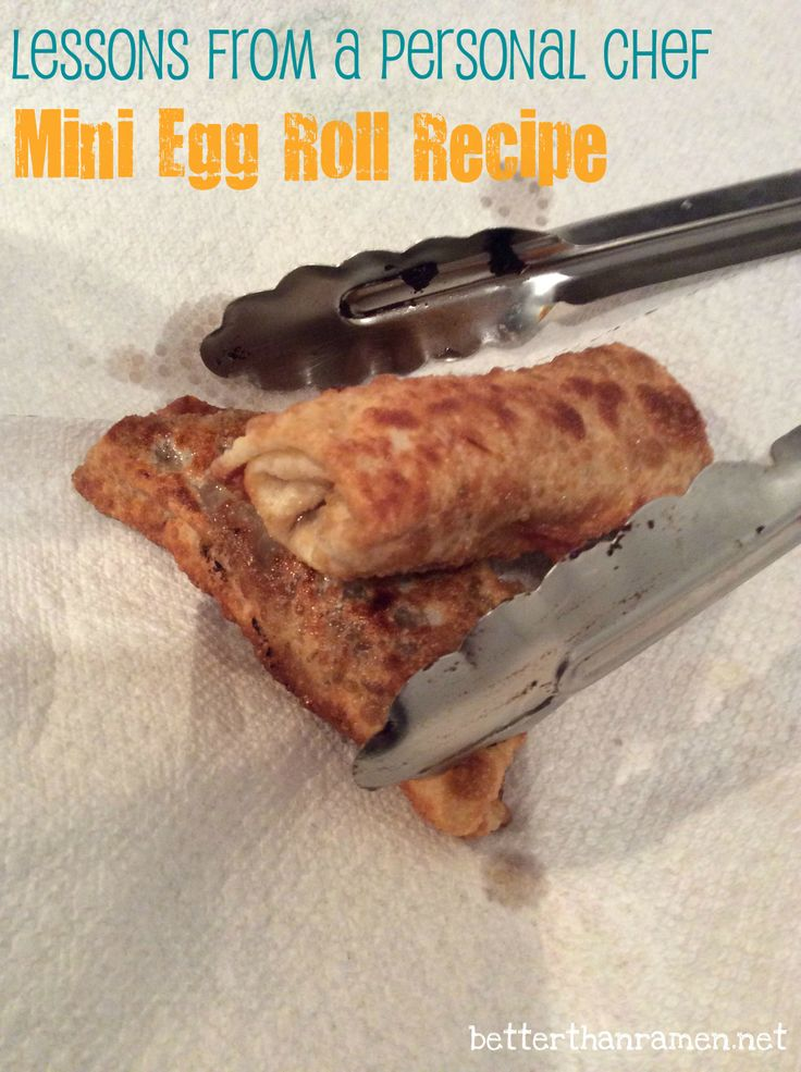 Mini Egg Roll Recipe via BetterThanRamen.net