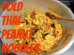 Cold Thai Peanut Noodle Recipe via BetterThanRamen.net