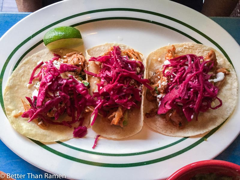 taqueria feliz review chicken tinga tacos