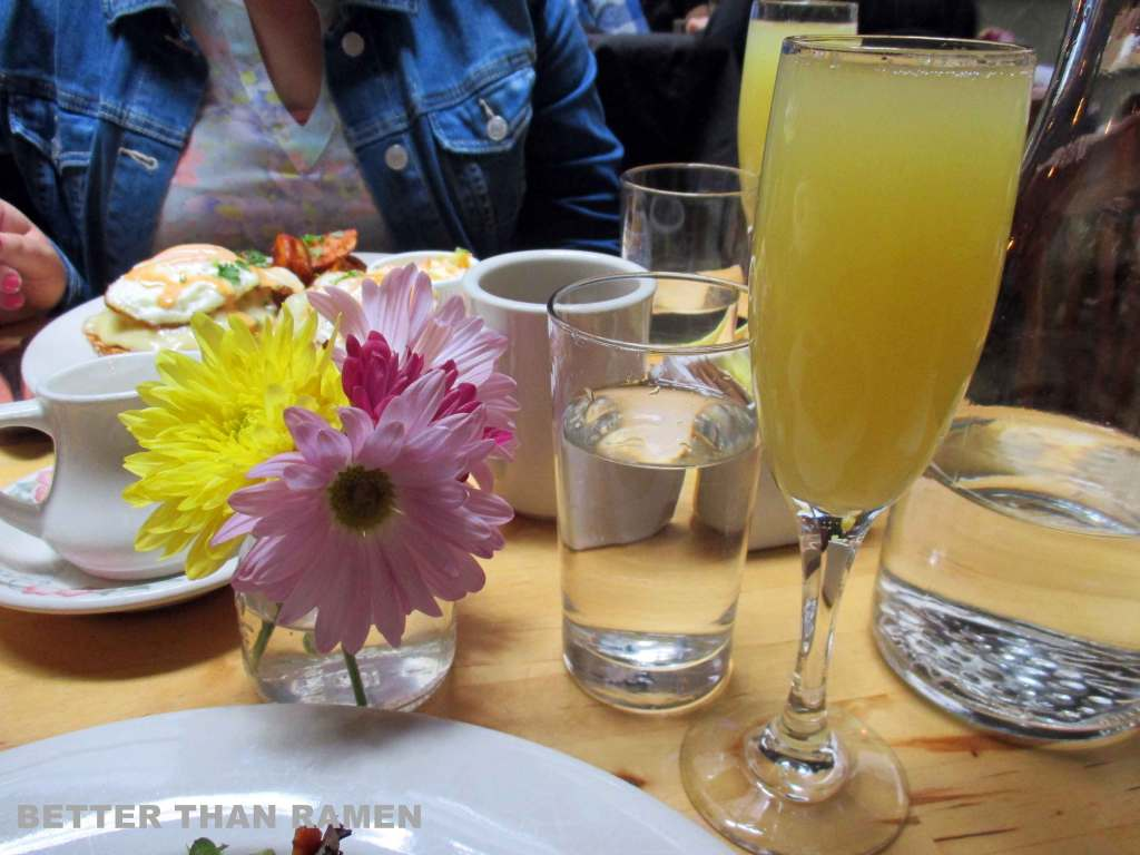 mimosas ck14 brunch nyc review crooked knife 14