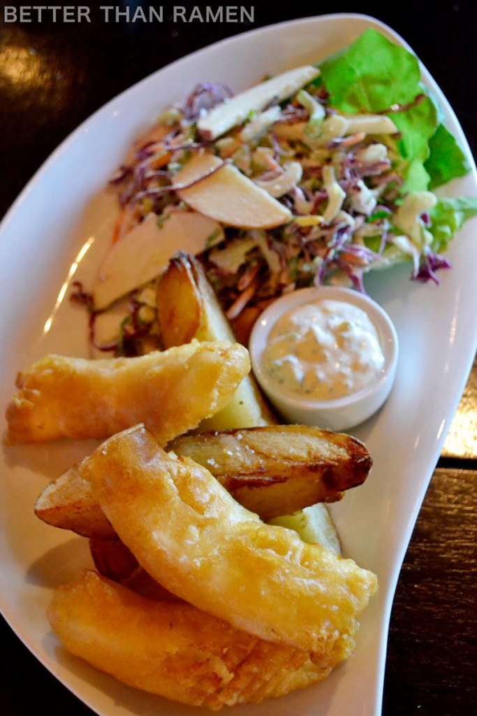 prairie grass cafe Alaskan Wild Halibut Fish and Chips