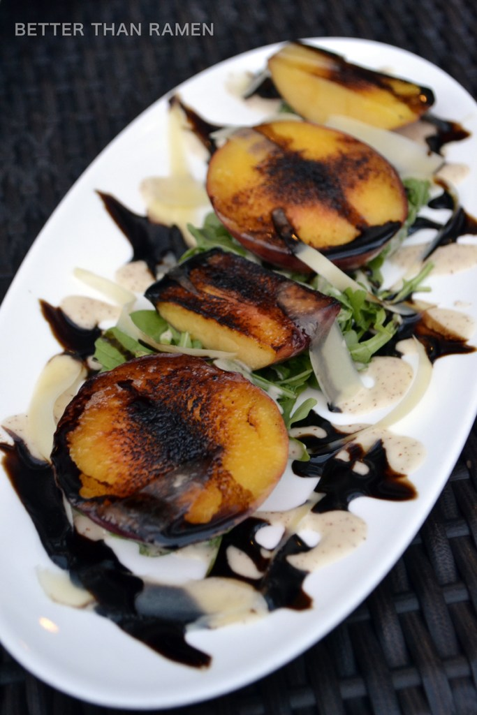 bar pastoral seasonal prix fixe menu charred peach salad