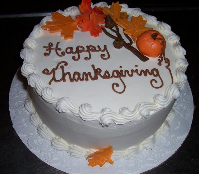 decorated thanksgiving cakes   My Web Value A Happy Thanksgiving Cake