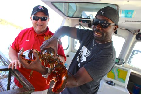 Larry the lobster at Top Notch Lobster Tours, PEI.