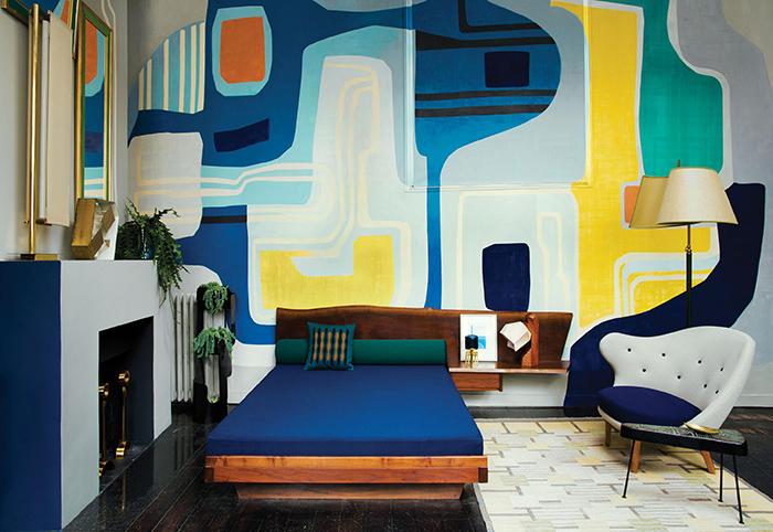 調色盤一樣的家,巴黎古物多彩公寓-2
