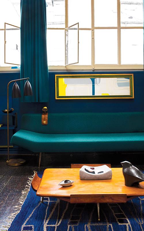 調色盤一樣的家,巴黎古物多彩公寓-3