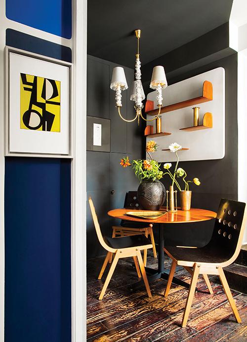 調色盤一樣的家,巴黎古物多彩公寓-4