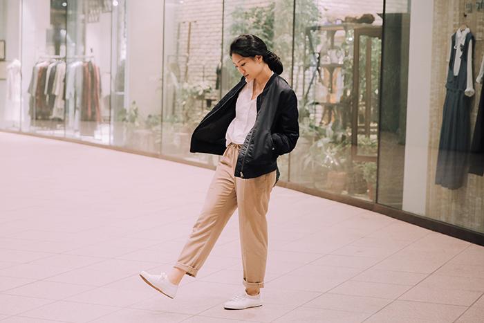 OL穿搭 秋冬穿搭 中行女孩穿搭 中性穿搭 大學T 襯衫穿搭 休閒鞋