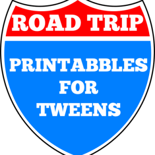 Road trip printables for tweens