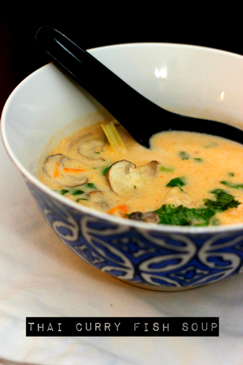 Thai coconut curry fish soup tom kha pla bewhatwelove for Thai fish soup