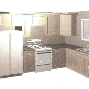 l-shaped kitchen layout with fridge and oven close. sink that is perpendicular to dishwasher. plan a kitchen remodel| bexbernard.com