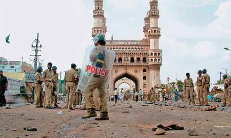 May 18, 2007 Doom Friday; Mecca Masjid was rocked by a pipe bomb (Outlook photo)