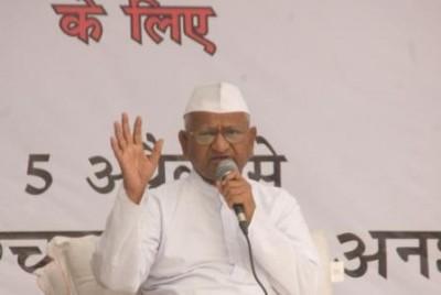 Anna Hazare on his fast at Jantar Mantar (Photo: Vaibhav Bhardwaj)