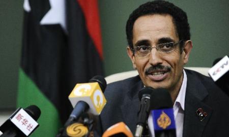 Vice chairman and spokesman of the Transitional National Council (NTC) of Libya Abdel Hafiz Ghoga (Xinhua/Dai Xuming)
