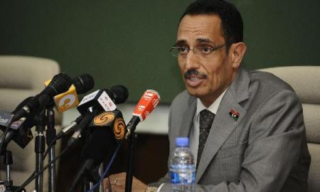Abdel Hafiz Ghoga, the spokesman for the Libyan rebel National Transitional Council (NTC) (Courtesy: Xinhua)