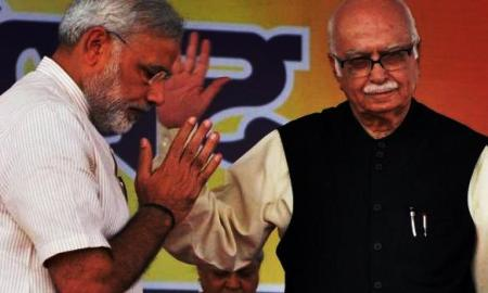 Mr. Narendra Modi with L.K. Advani