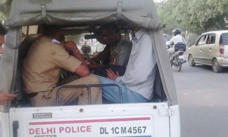 Arzoo in Police Van