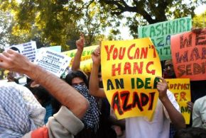 Protest against Sedition Charges on Kashmiri Students