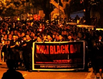 Kukis in Delhi observe 'Kuki Black Day'