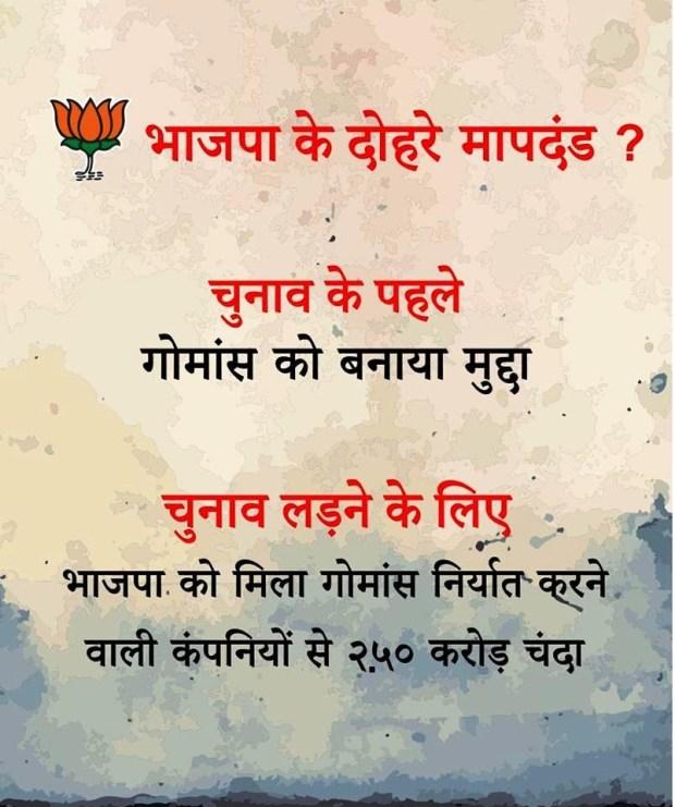 BJP Beef Politics