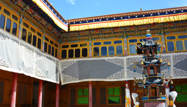 The 10th Panchen Lama's Home-view from the first floor. Xunhua.