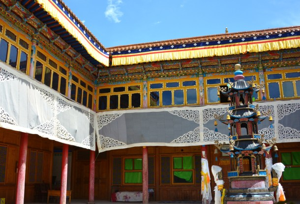 The 10th Panchen Lama's Home-view from first floor.