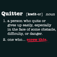 quitter definition
