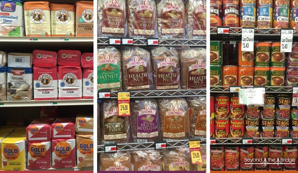 150 types de farines, de pains et conserves.