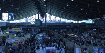 Die gesamte Halle 1 der Messe Stuttgart war vollgepackt mit Händlern, Ausstellern und der Cosplayzone - stellenweise wurde es richtig eng. Ob eine Halle im kommenden Jahr also noch ausreichen wird, ist fraglich.