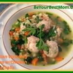 Italian Wedding Soup with Chicken Meatballs #Recipe #Foodie
