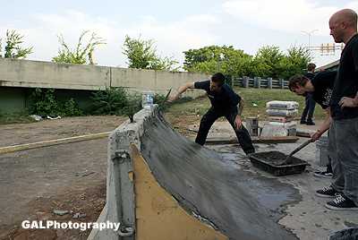 Working on a new skate ramp