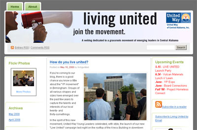 Living United screenshot - United Way of Central Alabama (Birmingham)