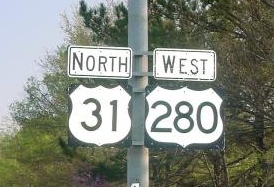 US 31/280 sign