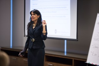 """Diversity in Law Learning Workshop, April 8, 2015: Ritu Bhasin facilitating a workshop entitled """"Are You 'Whistling Vivaldi'? Addressing Bias and Blindspots in a Law Firm Environment"""" – Toronto, ON"""