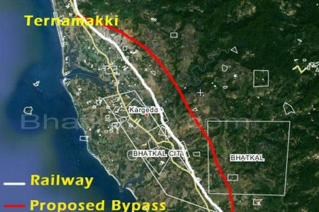 bhatkal nh 17's proposed byp map; people upset