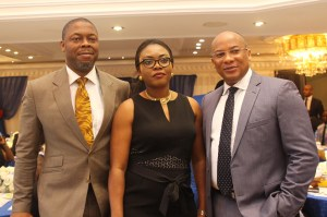 Divisional CEO, Financial Inclusions Services, Interswitch, Mike Ogbalu, CMO Interswitch, Cherry Eromosele and GMD, Interswitch, Mitchell Elegbe